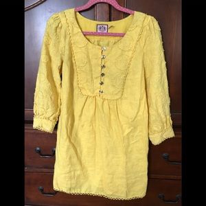 Juicy Couture Yellow Linen Dress
